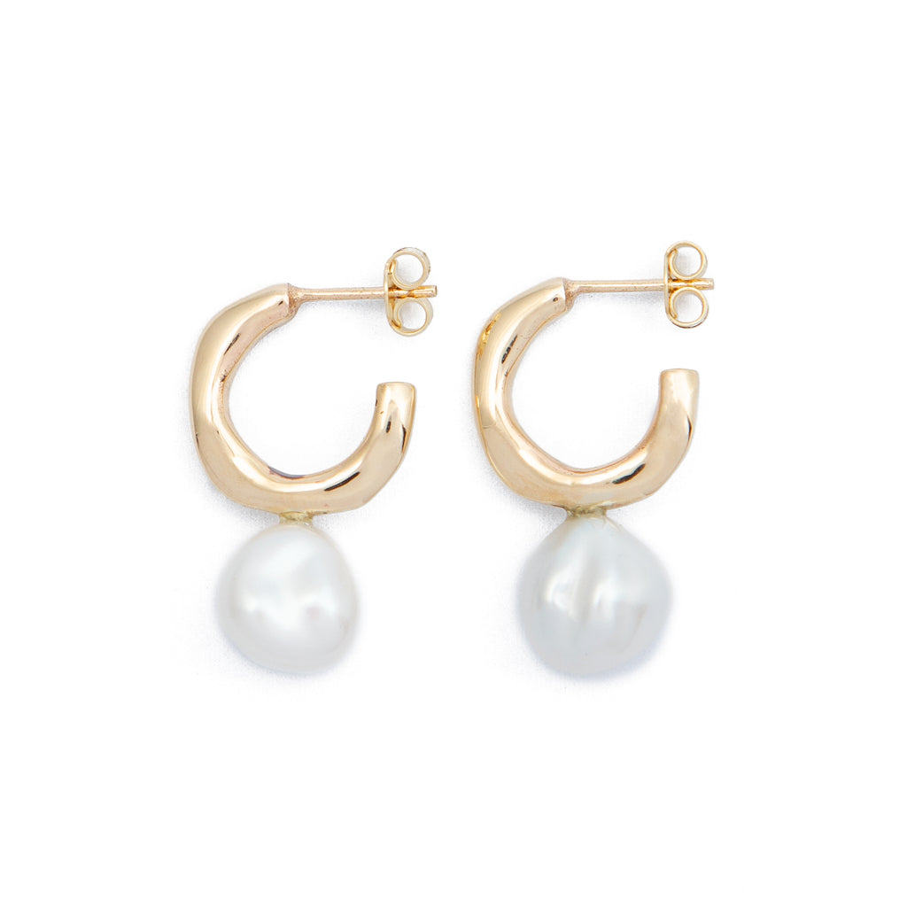 Wave Pearl Earrings