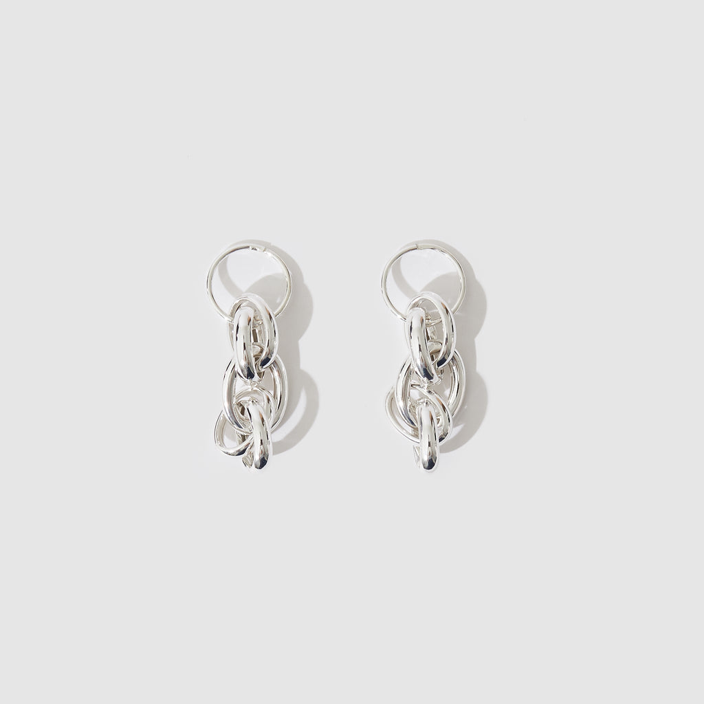Double Chain Earrings - Sterling Silver