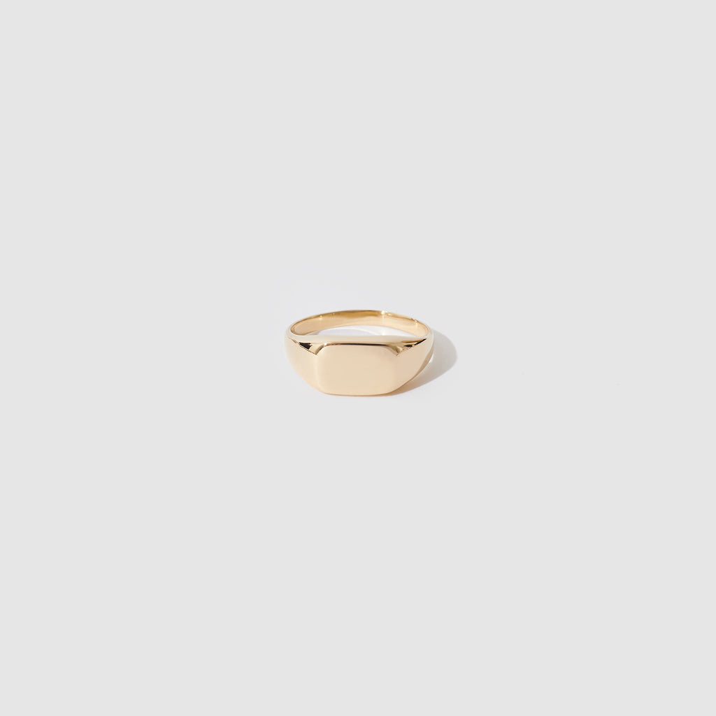 Gold Rectangle Signet Ring