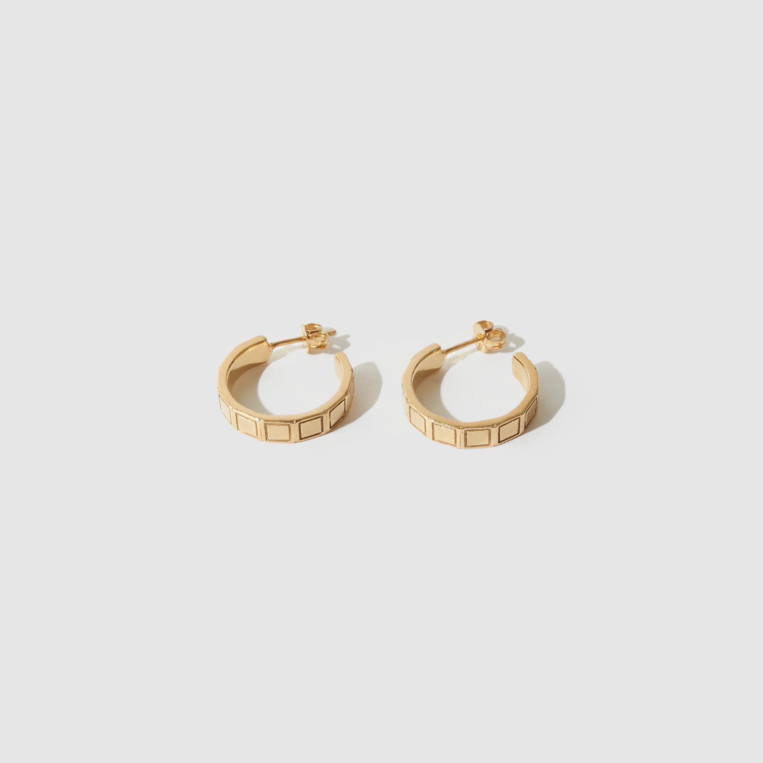 Plaza Hoops ~ Gold Plated