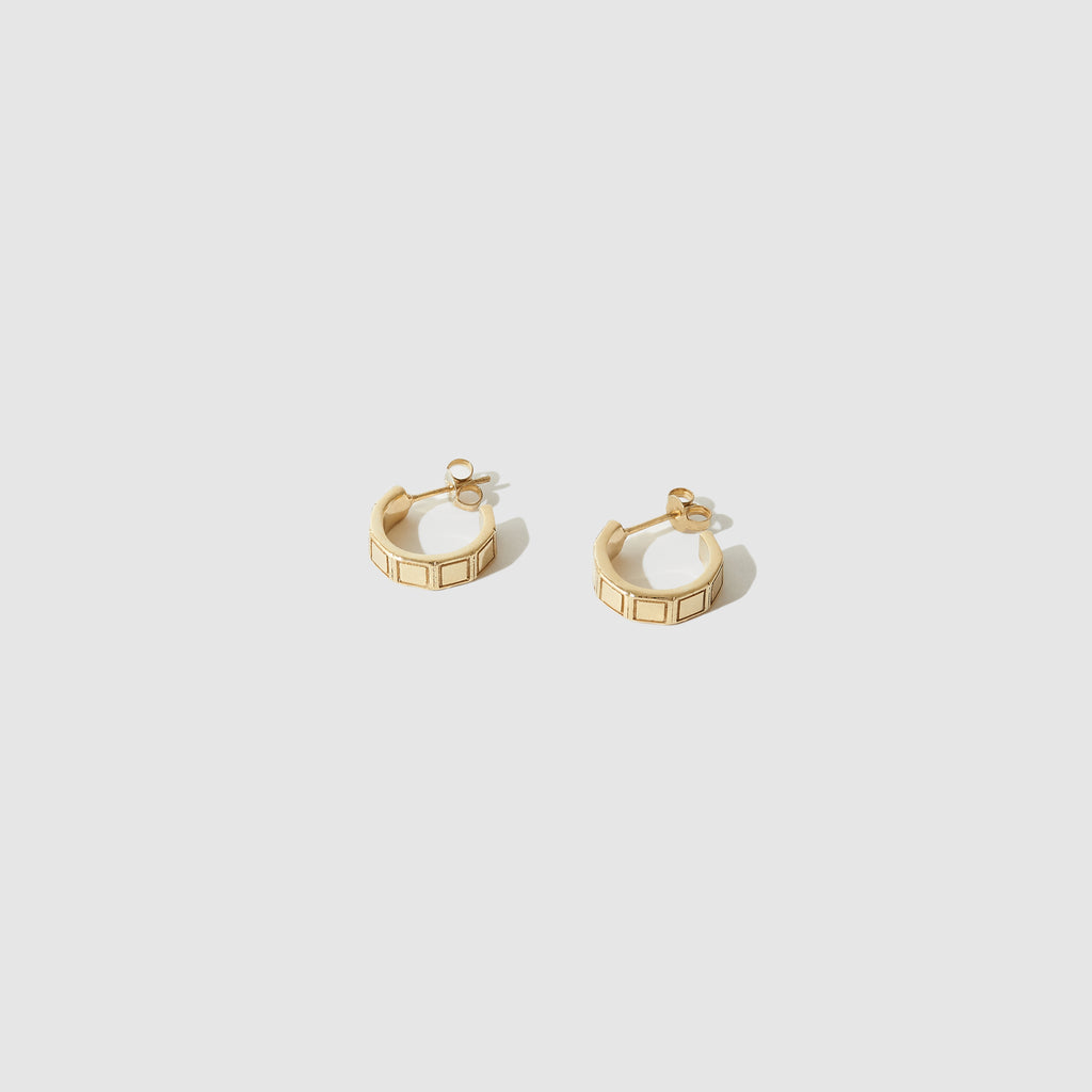 Mini Plaza hoops ~ Gold
