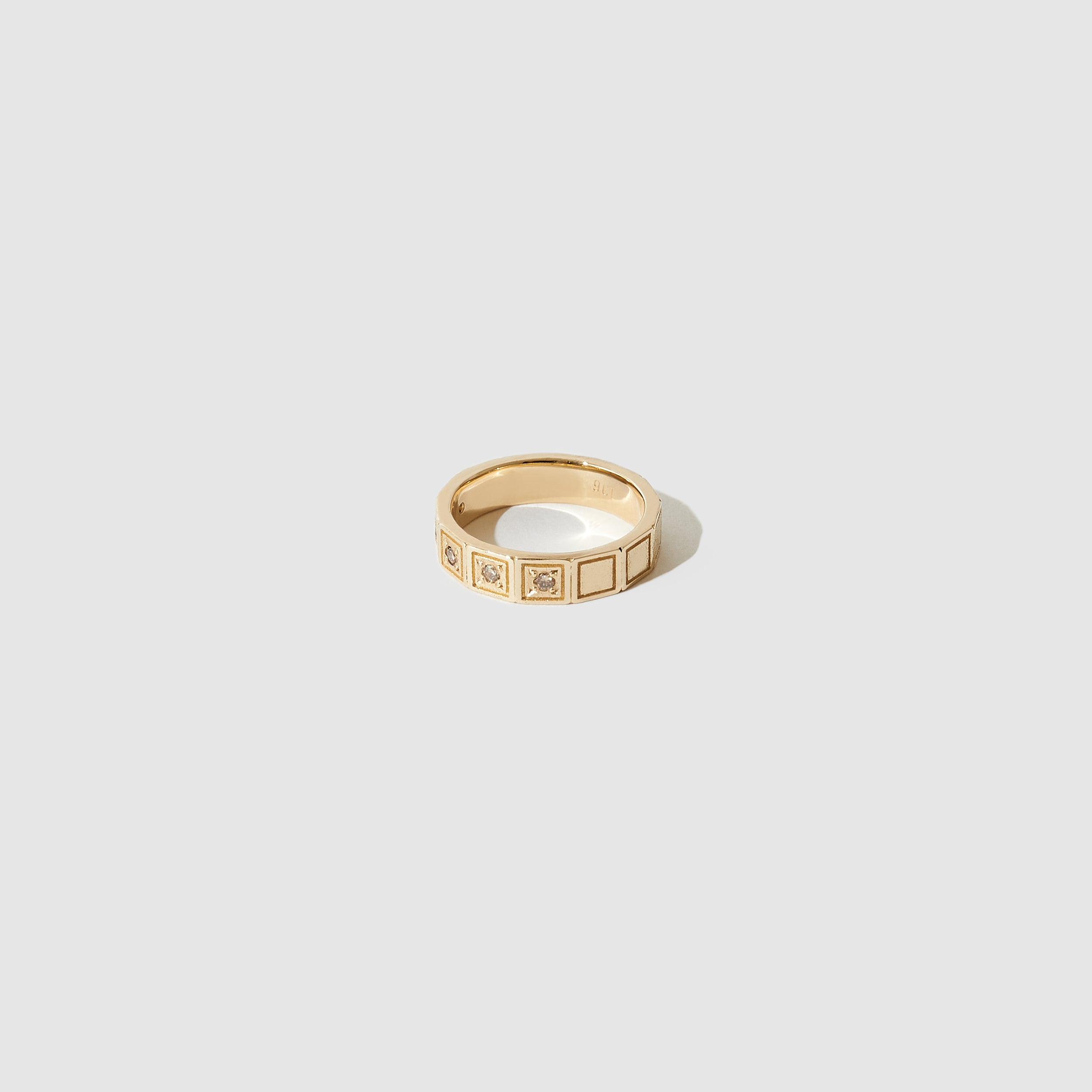 Plaza Ring ~ Gold with Champagne Diamonds