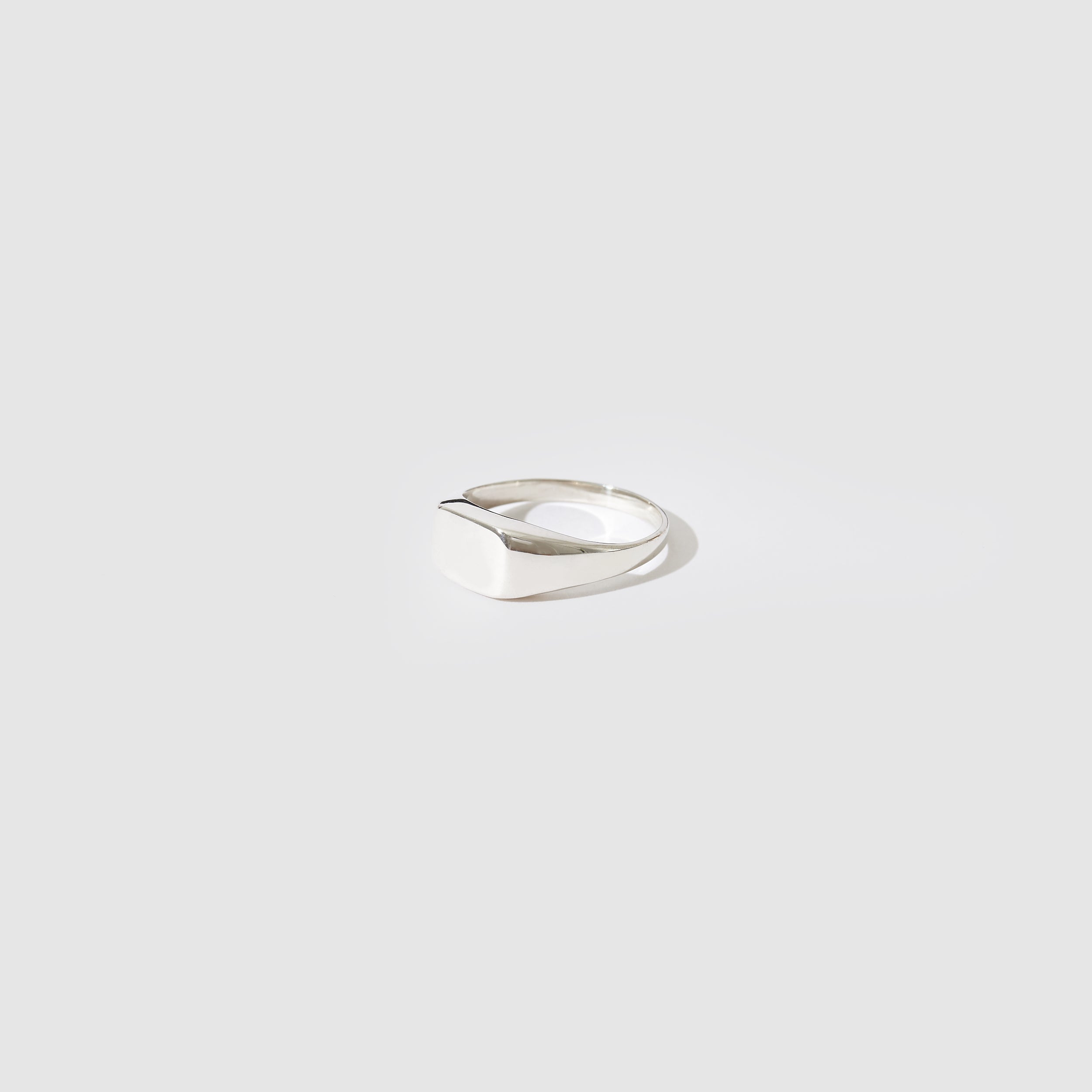 Sterling Silver Rectangle Signet Ring