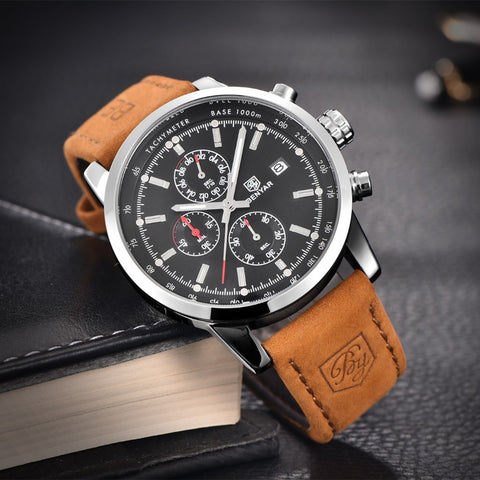 BENYAR BY-5102M Fashion Chronograph Sport Mens Watches