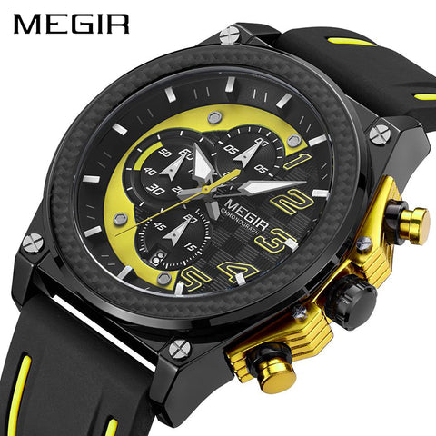 MEGIR 2051 Men Chronograph Wristwatches