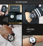 MEGIR 2020 Creative Quartz Sport Watch Men