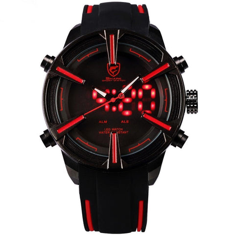 SHARK SPORT WATCH SH384 Dogfish Shark Digital Red LED Wristwatches