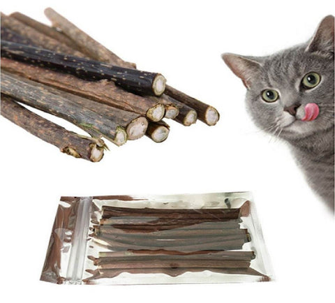 Cat Cleaning Teeth Sticks