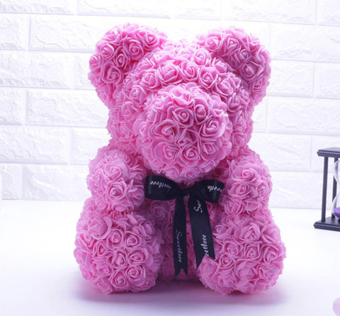 Image of 2018 Valentine's Ribbon Rose Teddy Bear 40cm x 28cm
