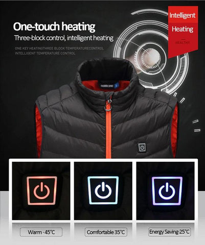 Smart Electric Heated Thermal Jacket Vest