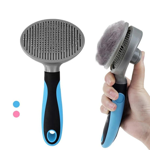 Image of Self-Cleaning Pet Grooming Brush