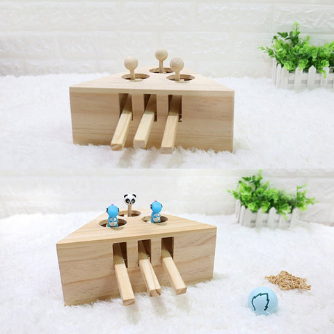 Indoor Solid Wooden Interactive Cat Hunting Toy