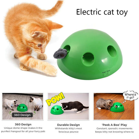 Electronic Interactive  Cat Training Mouse Puzzle Toy