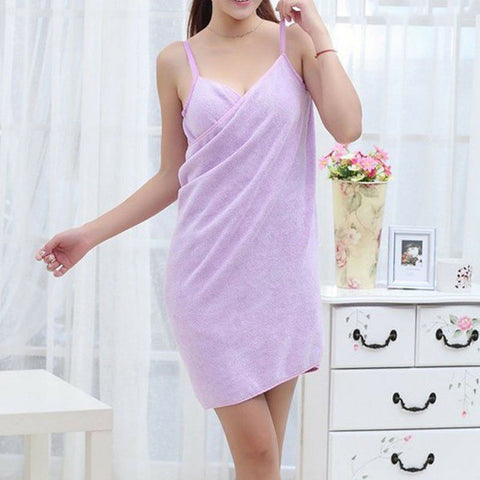 Image of Women's Wearable Fast Drying  Bath Towel
