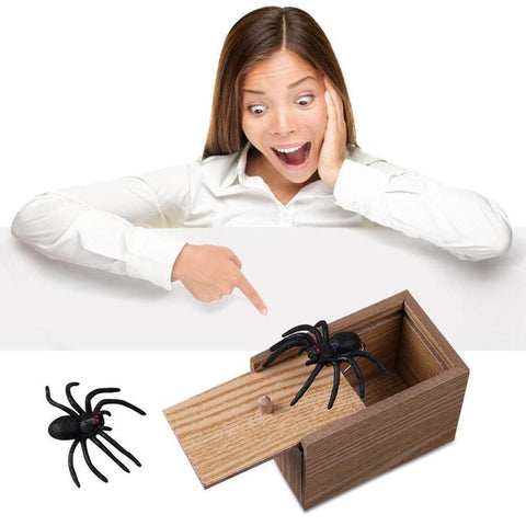 Kids Funny Toy Wooden Prank  Scare  Box