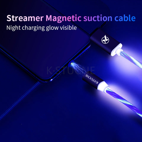 Running Flash LED Magnetic Charging  Cable