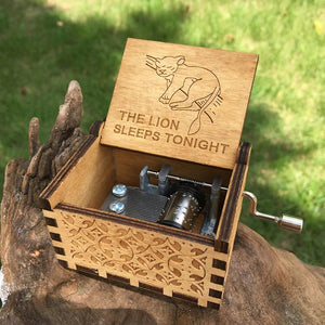 The Lion Sleeps Tonight Wooden Theme Box