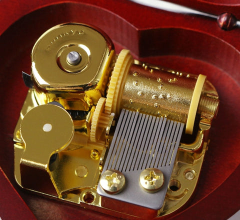 Image of Engrave Handmade Wooden Heart Music Box