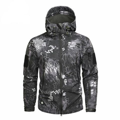 Men's Army Camouflage Fleece Tactical Jacket