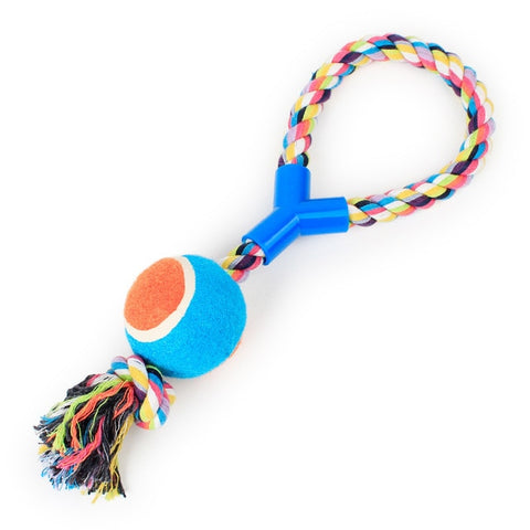 Bouncy Ball Rope Suction Cup Interactive Teeth Cleaning Dog Toy