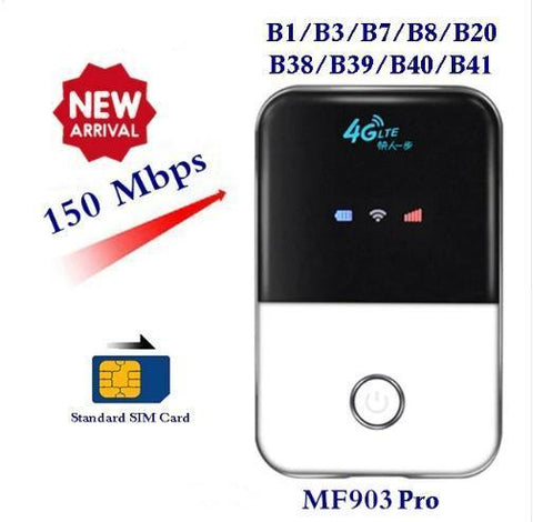 4G LTE  Portable Pocket  WIFI (Suitable For Europe & Asia)