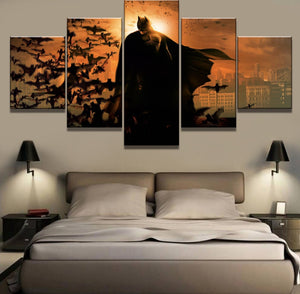 Framework 5 Piece HD Print Large Batman Movie Modern Decorative Paintings on Canvas Wall Art for Home Decorations Wall Decor