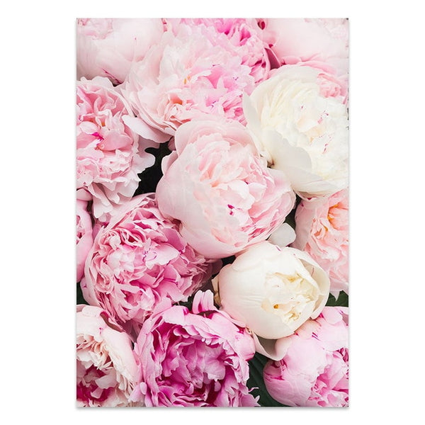 Simple Style Pink Flower Painting Wall Art Canvas Posters Nordic Prints Decorative Picture Modern Home Bedroom Decoration