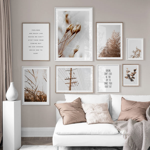 Flower Leaves Wheat Plant Farm Quotes Wall Art Canvas Painting Nordic Posters And Prints Wall Pictures For Living Room Decor