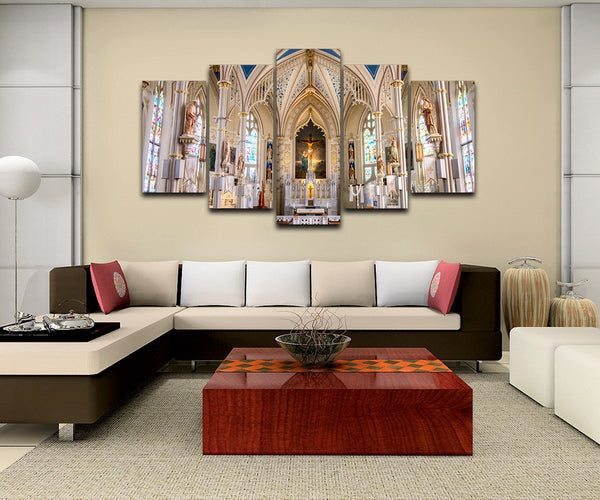 Modern Frames For Paintings Decoration Canvas Art 5 Panel The London Dungeon Prints Wall Modular Picture Kids Room Poster