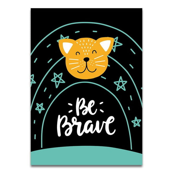 Cartoon Giraffe Animal Canvas Poster Lovely Quotes Print Wall Art Painting Nordic Kids Decoration Picture Baby Boys Bedroom