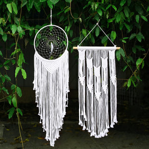 large tapestry dreamcatcher white wedding decoration macrame wall hanging room decoration kids home decoration gift for  women