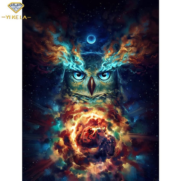 5D DIY Diamond Painting Fantasy Animal Wolf Tiger Owl Full Square Embroidery Cross stitch Diamond Bird Wall Painting Decor