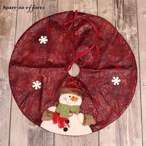 Xmas Decoration Aprons 60cm Red/Green Christmas Tree Skirt Carpet New Year Decorations Xmas Decoration Tree Skirt Ornaments