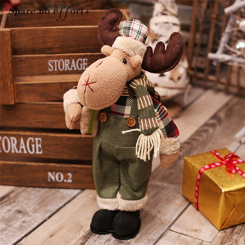 Christmas Birthday Gifts for Friend Lover Family Lovely Santa Claus Snowman Elk Dolls New Year Home Display Window Decorations