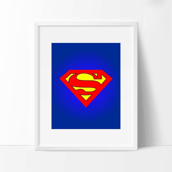 Batman Superman Captain America Canvas Poster Painting Cartoon Superheroes Logo Prints Wall Picture Children Room Decor