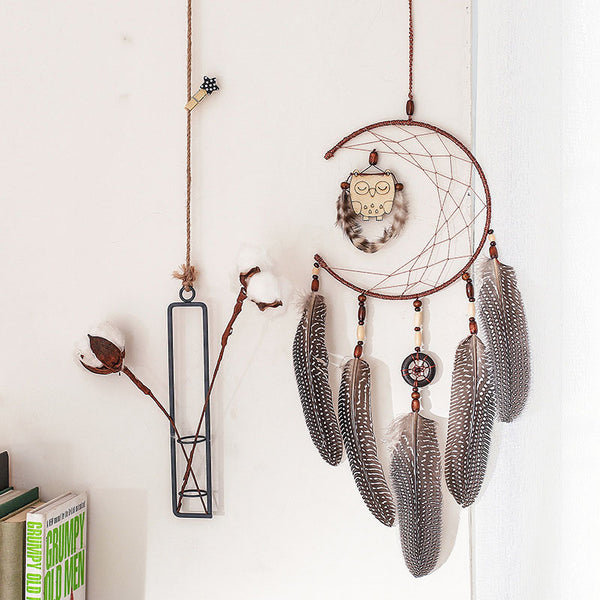nordic  owl dream catcher nordic style  decoration dreamcatcher  kids room decoration  gift for girl  baby  wedding decoration