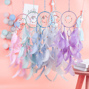 nordic dream catcher room decoration white pink blue dreamcatchers   nursery decor  party wedding gift for women