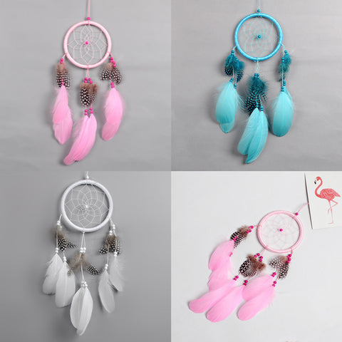 nordic dream catcher  white pink dreamcatcher kids  room decoration girls room decor wedding decoration gift for women girl