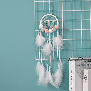 nordic white pom pom dream catcher room decoration girls room decor bedroom kids room decoration party wedding gift for women