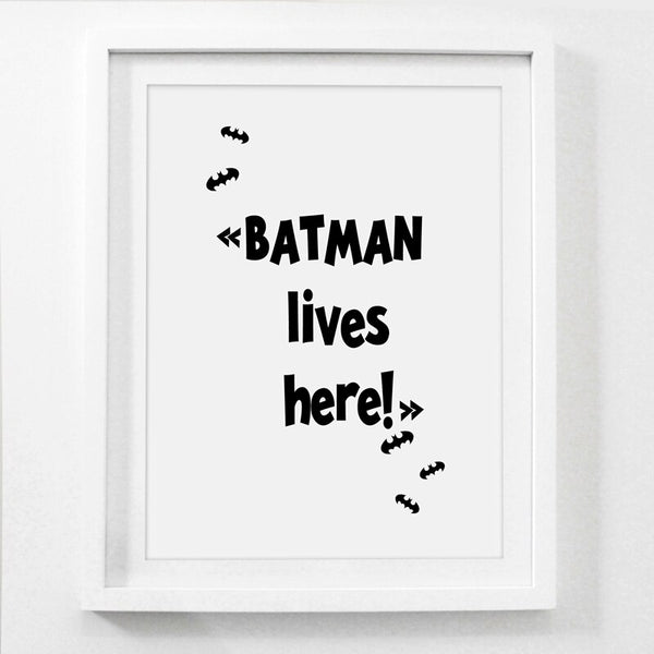 Boys Room Wall Art Decor Superhero Batman Spiderman Prints Wall Picture , Superhero Canvas Art Print Painting Poster