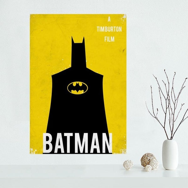 Hot Sale Custom Canvas Poster Batman Canvas Painting Poster High Quality Wall Art Poster Fabric Cloth Print