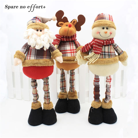 New Year Christmas Decorations for Home Christmas Tree Ornament Xmas Dolls Standing Figurines Christmas Gift Navidad 2019