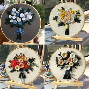 Flowers Cross Stitch Embroidery Materials Package European Embroidered Accessories