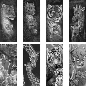 Diamond Embroidery Wild Animals 5D DIY Diamond Painting Black White Tigers And Giraffes Cross Stitch Full Rhinestone Mosaic