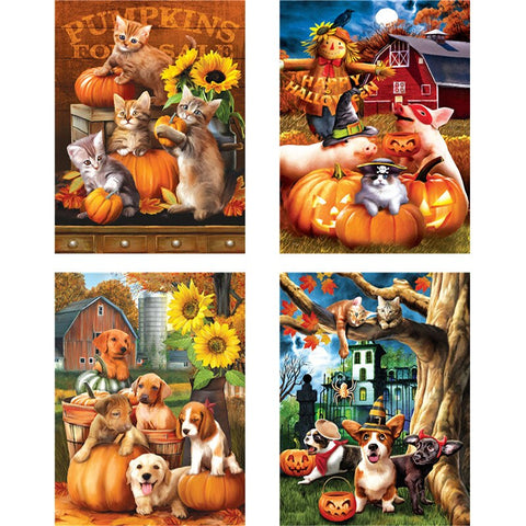 Diamond Painting Full Drill Halloween Dog Cat Square Drill Diamond Painting Cross Stitch Mosaic Embroidery Art Festival Gift