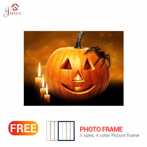 Framed Cartoon Halloween Diamand Painting Full Round Square Stones Drill 5d Diamond Embroidery Mosaic Pictures of Rhinestones