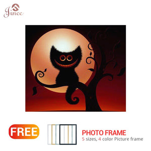5D DIY Diamond Painting Halloween Monster Scenery Cross Stitch Diamond Embroidery Moon Diamonds Wall Stickers Home Decor Gift
