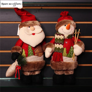 christmas tree decorations Santa Claus Snowman Doll Navidad Figurines Christmas Gift Kid Christmas Decoration Merry Christmas
