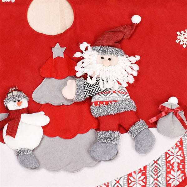 New Year Decor Accessories 100cm Santa Claus Snowman Christmas Tree Skirts Home Decoracion Supply Christmas Decoration for Tree