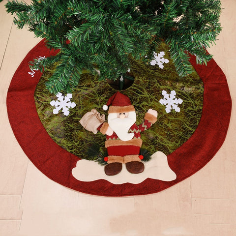Santa Claus Christmas Tree Skirts Round Carpet Merry Christmas Decoration for Home Tree Skirts New Year Decoration Natal